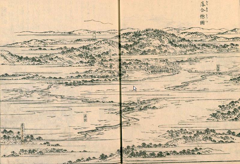 江戸名所図会(落合惣図)