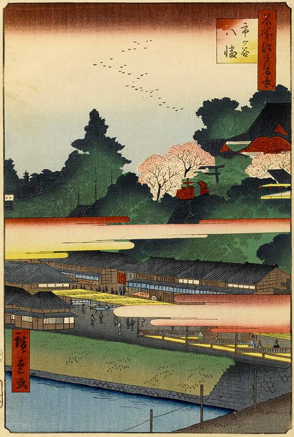 Ichigaya Hachiman (One Hundred Famous Views of Edo) / Hiroshige Utagawa