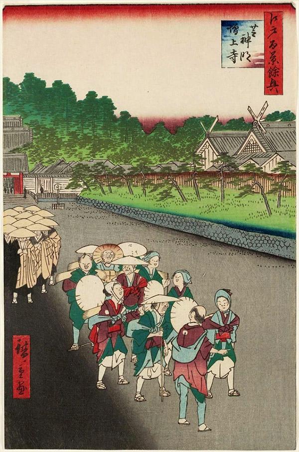 芝神明増上寺/歌川広重