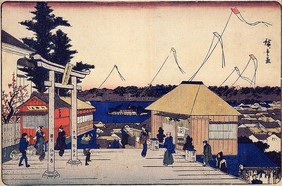 湯しま天神社/歌川広重